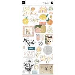 Heidi Swapp Storyline Chapters Cardstock Stickers 42/Pkg