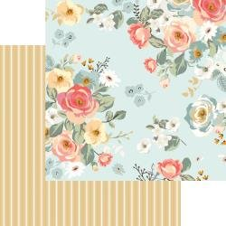 MME Gingham Gardens Double-Sided Cardstock 12X12 Amanda