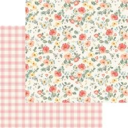 MME Gingham Gardens Double-Sided Cardstock 12X12 Savannah