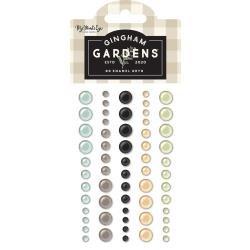 My Mind's Eye Gingham Gardens Adhesive Enamel Dots 60/Pkg