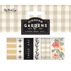 My Mind's Eye Gingham Gardens Washi 6/Pkg 10' Per Roll