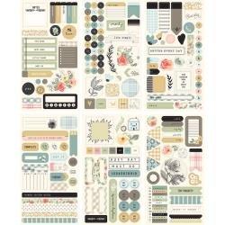 My Mind's Eye Gingham Gardens Planner Sticker Set 6/Pkg
