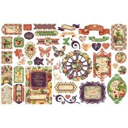 Graphic 45 Fruit & Flora Cardstock Die-Cut Assortment
