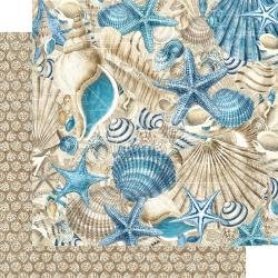 Graphic 45 Ocean Blue Double-Sided Cardstock 12X12 Belize