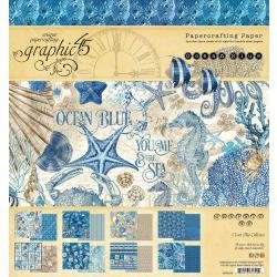 Graphic 45 Double-Sided Paper Pad 8X8 24/Pkg Ocean Blue