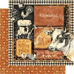 Graphic 45 Farmhouse Double-Sided Cardstock 12X12 Farmhouse