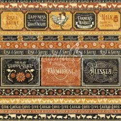 Graphic 45 Farmhouse Double-Sided Cardstock 12X12 Rise & Shine