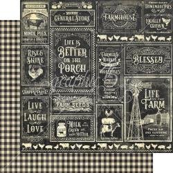 Graphic 45 Farmhouse Double-Sided Cardstock 12X12 General Store