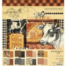 Graphic 45 Double-Sided Paper Pad 8X8 24/Pkg Farmhouse
