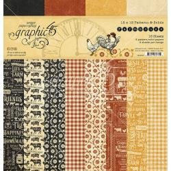 Graphic 45 Double-Sided Paper Pad 12X12 16/Pkg Farmhouse