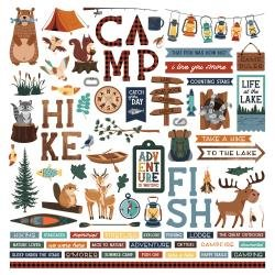 PhotoPlay Camp Happy Bear Stickers 12X12 Elements