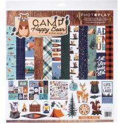 PhotoPlay Collection Pack 12X12 Happy Camper Bear