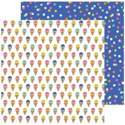 Pebbles Live Life Happy Double-Sided Cardstock 12X12 Scoops