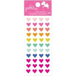 Pebbles Live Life Happy Puffy Stickers 44/Pkg Hearts