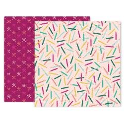 Pink Paislee And Many More Double-Sided Cardstock 12X12 #2