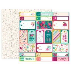 Pink Paislee And Many More Double-Sided Cardstock 12X12 #4