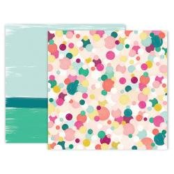 Pink Paislee And Many More Double-Sided Cardstock 12X12 #5