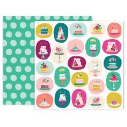 Pink Paislee And Many More Double-Sided Cardstock 12X12 #7