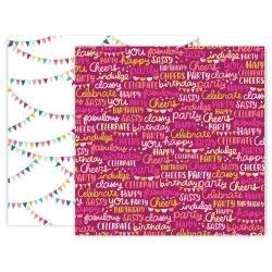 Pink Paislee And Many More Double-Sided Cardstock 12X12 #8