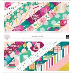 Pink Paislee Single-Sided Paper Pad 12X12 36/Pkg And Many More W/Foil Accents