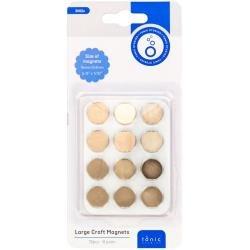 Tonic Studios Large Craft Magnets 15mm 6/Pkg