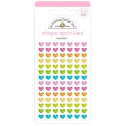 Doodlebug Sprinkles Adhesive Enamel Shapes Heart-Fetti, Hey Cupcake
