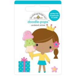 Doodlebug Doodle-Pops 3D Stickers Birthday Princess, Hey Cupcake
