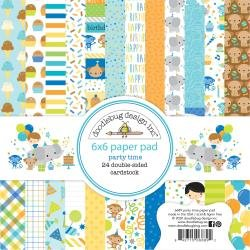 Doodlebug Double-Sided Paper Pad 6X6 24/Pkg Party Time