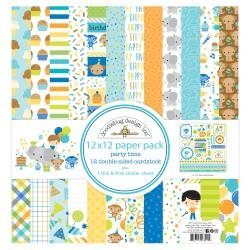 Doodlebug Double-Sided Paper Pack 12X12 12/Pkg Party Time