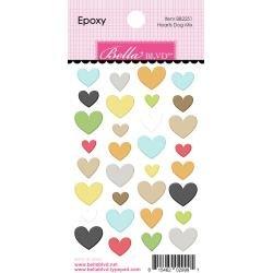 Bella Blvd Cooper Epoxy Stickers Hearts Dog