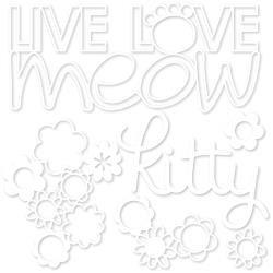 Bella Blvd Cooper Cut-Outs Live Love Meow