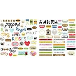 Bella Blvd Cardstock Ephemera Words, Cooper
