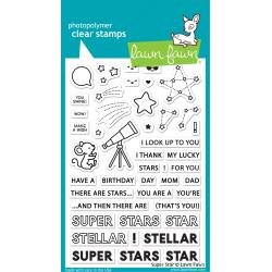 Lawn Fawn Clear Stamps 4X6 Super Star