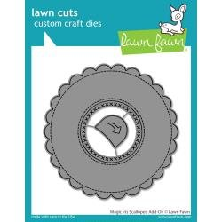 Lawn Cuts Custom Craft Die Magic Iris Scalloped Add-On