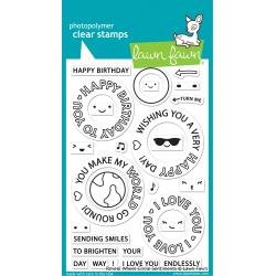 Lawn Fawn Clear Stamps 4X6 Reveal Wheel Circle Sentiments
