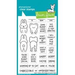 Lawn Fawn Clear Stamps 4X6 Don't Worry, Be Hoppy