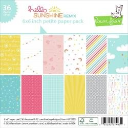 Lawn Fawn Petite Paper Pack 6X6 36/Pkg Hello Sunshine Remix, 12 Designs