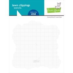 Lawn Clippings Stencils Cloudy