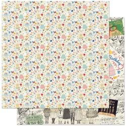 Authentique Hooray Double-Sided Cardstock 12X12 #1 Party Stuff