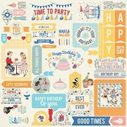 Authentique Hooray Cardstock Stickers 12X12 Details