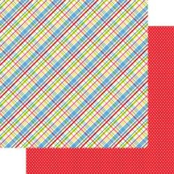 Fancy Pants Cake Smash Double-Sided Cardstock 12X12 Plaid Party