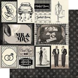 Authentique Timeless Double-Sided Cardstock 12X12 #7 Groom Cut-Aparts