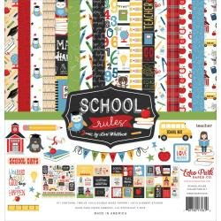 Echo Park Collection Kit 12X12 School Rules
