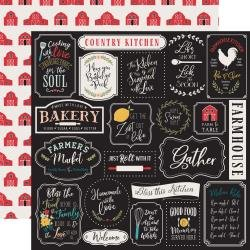 Echo Park Farmhouse Kitchen Double-Sided Cardstock 12X12 Kitchen Rules