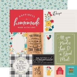 Echo Park Farmhouse Kitchen Double-Sided Cardstock 12X12 Multi Journaling Cards