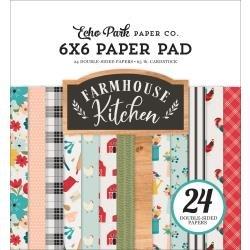 Echo Park Double-Sided Paper Pad 6X6 24/Pkg Farmhouse Kitchen
