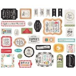 Echo Park Cardstock Ephemera 33/Pkg Icons, Farmhouse Kitchen