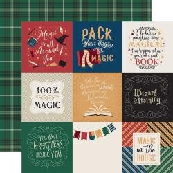Echo Park Witches & Wizards Double-Sided Cardstock 12X12 4X4 Journaling Cards