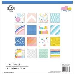 Pinkfresh Studio Double-Sided Paper Pack 12X12 16/Pkg Let's Stay Home