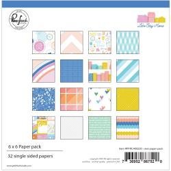 *pre-order*  Pinkfresh Studio Single-Sided Paper Pack 6X6 32/Pkg Let's Stay Home